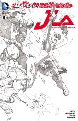 JUSTICE LEAGUE OF AMERICA #6 – Joe Madureira Sketch 2